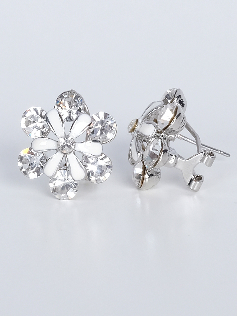 jewellery pandora women john stud primrose zoom flower white earrings greed