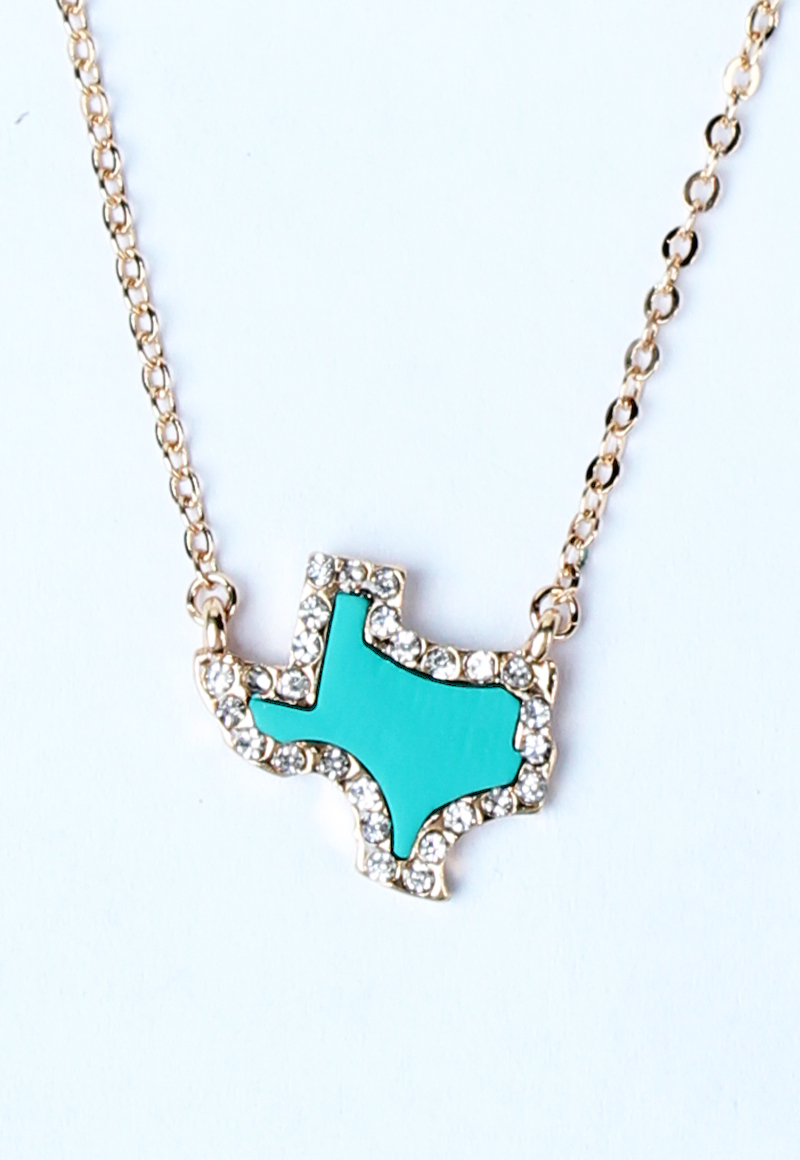 Necklaces turquoise texas pendant necklace gold mozeypictures Choice Image